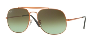 Ray Ban RB3561 GENERAL Medium Bronze with Green Gradient Brown Lenses