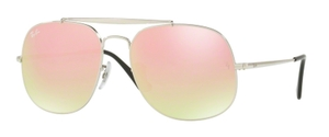 Ray Ban RB3561 GENERAL Silver with Gradient Brown Mirror Pink Lenses