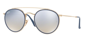 Ray Ban RB3647N Gold w/ Gradient Brown Mirror Silver Lenses