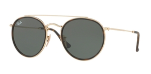 Ray Ban RB3647N Gold with Green Lenses