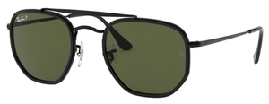 Ray Ban RB3648M The Marshall II Black with Polarized Crystal Green Lenses