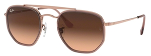 Ray Ban RB3648M The Marshall II Copper with Crystal Pink Gradient Brown Lenses