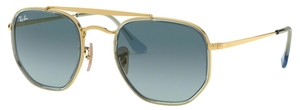 Ray Ban RB3648M The Marshall II Gold with Crystal Blue Gradient Grey Lenses