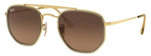 Ray Ban RB3648M The Marshall II Gold with Crystal Brown Gradient Grey Lenses