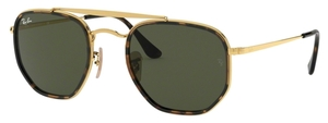 Ray Ban RB3648M The Marshall II Gold with Crystal Green Lenses
