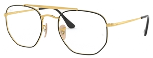 Ray Ban Glasses RX3648V The Marshall Top Black On Gold