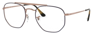 Ray Ban Glasses RX3648V The Marshall Top Blue on Copper