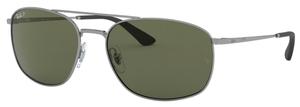 Ray Ban RB3654 Gunmetal / dark green polarized