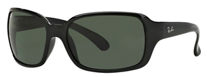 Ray Ban RB4068 Black with Crystal Green Lenses 601