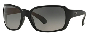 Ray Ban RB4068 Matte Black w/ POLAR Light Grey Gradient Dark Grey Lenses