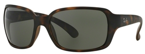 Ray Ban RB4068 Matte Havana w/ POLAR Green Lenses