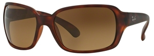 Ray Ban RB4068 Matte Light Havana w/ Polar Brown Gradient Lenses