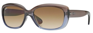 Ray Ban RB4101 Jackie Ohh Brown Gradient Lilac w/ Crystal MG Chocolate Gradient Lenses
