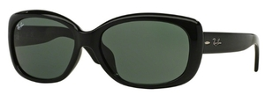 Ray Ban RB4101F Black with Green Lenses