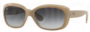 Ray Ban RB4101 Jackie Ohh Top Matte Beige on Transparent w/ Grey Gradient Dark Grey Lenses  61728G