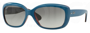 Ray Ban RB4101 Jackie Ohh Top Oil on Transparent Red w/ Grey Gradient Lenses  613311