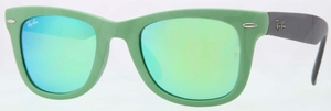 Ray Ban RB4105 Matte Green with Crystal Green/Green Mirror Lenses