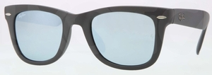 Ray Ban RB4105 Matte Grey with Green/Silver Mirror Lenses