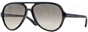 Ray Ban RB4125 CATS 5000 Black w/ Crystal Grey Gradient Lenses