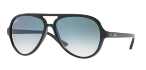 Ray Ban RB4125 CATS 5000 Black w/ Gradient Blue Lenses
