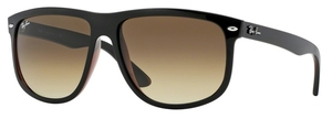Ray Ban RB4147 Top Black on Brown with Brown Gradient Dark Brown Lenses