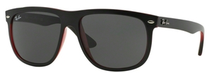 Ray Ban RB4147 Top Mat Black on Red Transparent with Dark Grey Lenses
