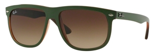 Ray Ban RB4147 Top Mat Green on Transparent Brown with Gradient Brown Lenses
