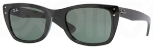 Ray Ban RB4148 Black with Crystal Green Lenses
