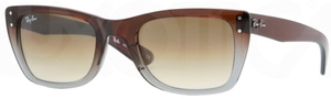 Ray Ban RB4148 Brown Pipe Gradient on Gray Transparent with Crystal Brown Gradient Lenses