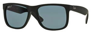Ray Ban RB4165 Justin Black Rubber with Polarized Dark Blue Lenses