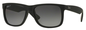 Ray Ban RB4165 Justin Black Rubber with Polarized Grey Gradient Lenses