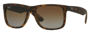 Ray Ban RB4165 Justin Havana Rubber with Polarized Brown Gradient Lenses