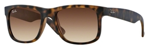 Ray Ban RB4165 Justin Rubber Light Havana w/ Brown Gradient Lenses