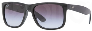 Ray Ban RB4165 Justin Rubber Black with Grey Gradient Lenses