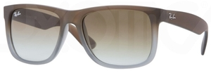 Ray Ban RB4165 Justin Rubber Brown/Grey with Green Gradient Lenses