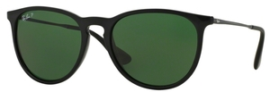 Ray Ban RB4171 Erika Black w/ POLAR Green Lenses