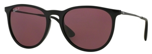 Ray Ban RB4171 Erika Black w/ POLAR Purple Lenses
