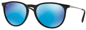 Ray Ban RB4171 Erika Black with Light Green Mirror Blue Lenses
