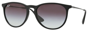 Ray Ban RB4171 Erika Rubber Black w/ Grey Gradient Lenses