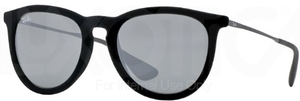 Ray Ban RB4171 Erika Velvet Black w/ Grey Mirror Silver Lenses