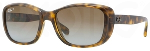 Ray Ban RB4174 Shiny Havana with Polarized Crystal Brown Gradient Lenses