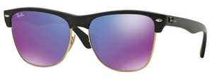 Ray Ban RB4175 Demi Shiny Black w/ Grey Mirror Purple Lenses
