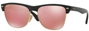 Ray Ban RB4175 Demi Shiny Black w/ Light Brown Mirror Pink Lenses