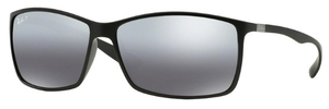 Ray Ban RB4179 Matte Black with Polarized Gray Mirror Silver Lenses
