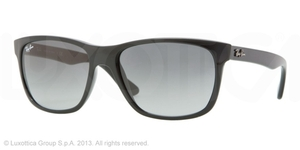 Ray Ban RB4181 Black with Crystal Grey Gradient Azure Lenses