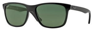 Ray Ban RB4181 Shiny Black w/ Crystal Green Lenses