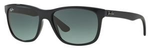 Ray Ban RB4181 Shiny Black w/ Crystal Grey Gradient Azure Lenses