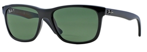 Ray Ban RB4181 Shiny Black w/ POLAR Green Lenses