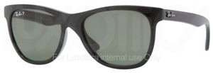 Ray Ban RB4184 Black with Polarized Green Lenses