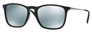 Ray Ban RB4187 Black with Green Mirror Silver Lenses